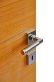 близкая ручка двери снятая вверх Стоковые Изображения RF