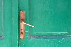 близкая ручка двери снятая вверх Стоковое Изображение