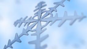 близкая снежинка вверх Стоковая Фотография RF