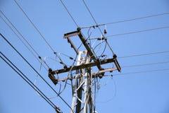 близкая станция электропитания вверх Стоковое Фото