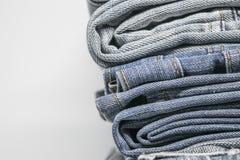 близкая текстура съемки джинсыов вверх Стоковое Изображение