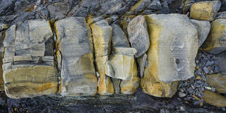близкая текстура Украина песчаника песка вверх по стене Стоковые Фотографии RF