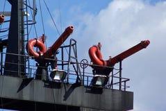 Близкие детали спасательной лодки пожаротушения Стоковое Изображение RF