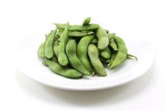 Близкие зеленые сои Стоковое Изображение