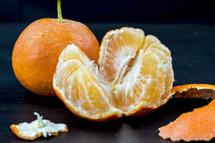 близкие tangerines вверх Стоковые Изображения RF