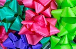 Близкий взгляд смычков рождества Стоковые Фото