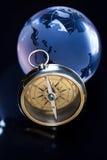 близкий компас вверх по взгляду Стоковое Изображение RF