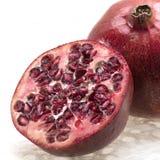 близкий красный цвет pomegranate вверх Стоковая Фотография