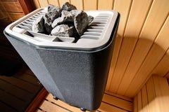 близкий нутряной термометр sauna вверх по белизне Стоковое Фото