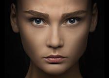 близкий портрет вверх по женщине Стоковое Изображение RF