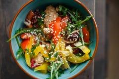 близкий салат снятый вверх по овощу Стоковые Фото