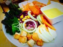 близкий салат снятый вверх по овощу Стоковая Фотография
