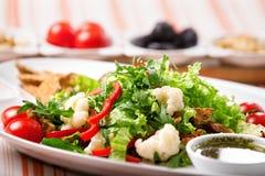 близкий салат снятый вверх по овощу Стоковое Фото