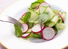 близкий салат снятый вверх по овощу Стоковые Изображения