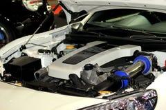 Близкий снимок показа двигателя автомобиля Стоковая Фотография