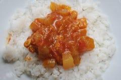 близкий соус риса снятый вверх Стоковые Изображения RF