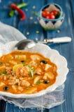 близкий суп съемки рыб вверх Стоковое Изображение