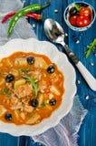 близкий суп съемки рыб вверх Стоковые Изображения