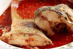 близкий суп съемки рыб вверх Стоковая Фотография RF