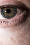 близкий человек глаза вверх стоковая фотография rf