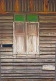 Близкое деревянное окно. Стоковое фото RF