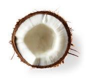 Близкое кокоса вверх изолированное на белизне Стоковое Изображение