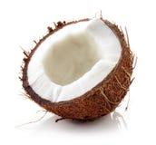 Близкое кокоса вверх изолированное на белизне Стоковые Изображения RF