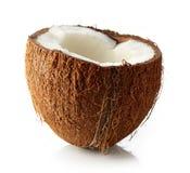 Близкое кокоса вверх изолированное на белизне Стоковая Фотография RF