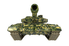 Близко изолированный боевой танк Стоковая Фотография RF