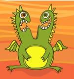 Близнецы зеленого дракона Стоковое фото RF