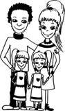 близнецы семьи Иллюстрация вектора