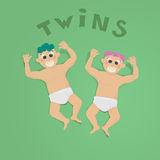 близнецы Стоковое фото RF