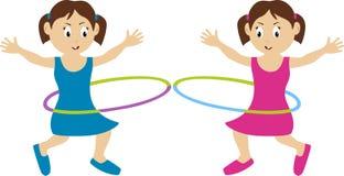 близнецы hula обруча Стоковое фото RF