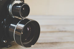 близнец отражения объектива фотоаппарата Стоковое фото RF