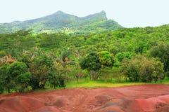 Близости парка 7 Colorss в Chamarel Маврикий Стоковое Фото