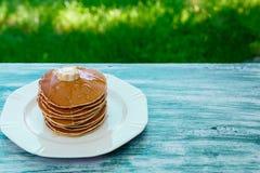Блинчики, завтрак Стоковые Фото