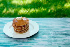 Блинчики, завтрак Стоковые Изображения