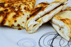 Блинчики с белым сыром Стоковые Фото