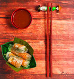 Блинчики с начинкой вафли Вьетнама Стоковые Изображения