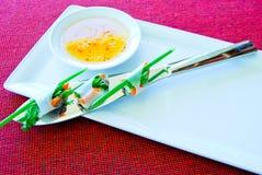 Блинчики с начинкой овощей Стоковое фото RF