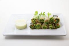 блинчики с начинкой салата тунца Стоковое Фото