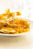 Блинчики с сладостным цитрусом sauce, crepes Suzette Стоковые Фото