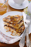 Блинчики для завтрака с яблоком Стоковые Изображения RF
