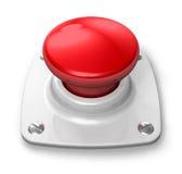 бдительный красный цвет кнопки Стоковые Изображения