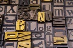 Блог в typeset деревянном Стоковая Фотография RF