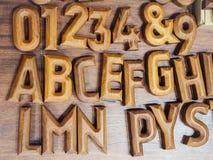 Блока письма объекта ремесла алфавита оформление стиля деревянного винтажное Стоковое Фото