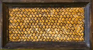 Блокировать зигзага handcraft wi бамбуковой текстуры weave естественные Стоковые Фото