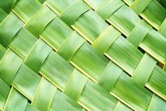 Блокировать зигзага weave листьев кокоса Стоковая Фотография