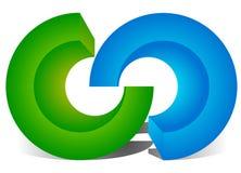 Блокировать круги, блокируя звенит как абстрактное соединение, бесплатная иллюстрация