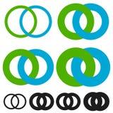 Блокируя круги, кольца Бесконечный символ или логотип с отличаются бесплатная иллюстрация